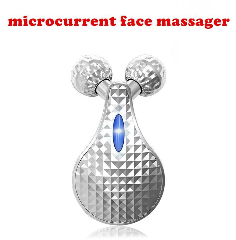 3D роликовый массажер микротоковая лица Массажер электронных beauty bar потянув плотный кожи тонкие подтяжки лица станков