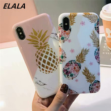Elala Glitte Marble Case For iPhone 7 Silicon Soft TPU Mix Colors Pattern Cute Cover 6S 8 Plus X XR XsMax