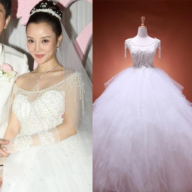 Wedding Korean Star: The New 2015 Wedding Dress Fashion Korean Star Li Xiaolu