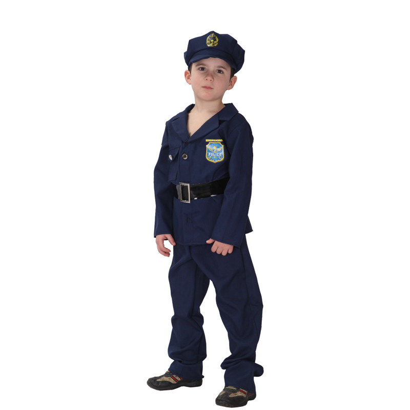 Kids Child Little Policeman Police Cop Cosplay Costume for Boys Halloween New Year Carnival Mardi Gras Party Outfit Disfraces in Boys Costumes from Novelty Special Use
