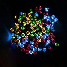 200 LED 22M Solar Lamp Fairy String Lights Solar Power Outdoor Lighting 2 Modes Waterproof For Garden Light LED Strip Light