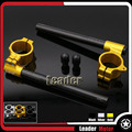 Hot Sale Motorcycle Accessories Universal Racing 50mm Clip on Ons clipon Fork Handle Bars handlebars Gold