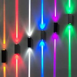 BEIAIDI 6 W na świeżym powietrzu W górę W dół ściany światła wodoodporna wąska wiązka LED Spot Light Villa Hotel przejściach i korytarzach korytarz ściany zewnętrzne lampa ozdobna w Zewnętrzne lampy ścienne od Lampy i oświetlenie na