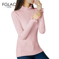 FGLAC Women clothing New Arrivals 2017 Autumn winter long sleeved knitted sweater Elegant slim Women sweater and pullovers