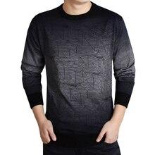 2017 бренд социальной Хлопок Толстые Мужской пуловер Свитера повседневные вязаные градиент вязаный свитер для мужчин masculino Джерси Одежда