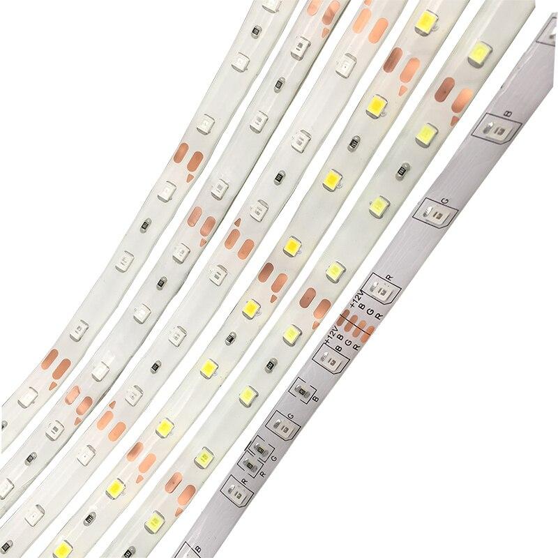 RGB Monochrome LED Strip Light Mirror Lighting SMD3528 DC 12V LED Flexible Strip Diode Tape 50CM 1M 2M 3M 5M RGB Neon Ribbon 42w 625nm 16lm 60x5050 led red light strip 3m length dc 12v