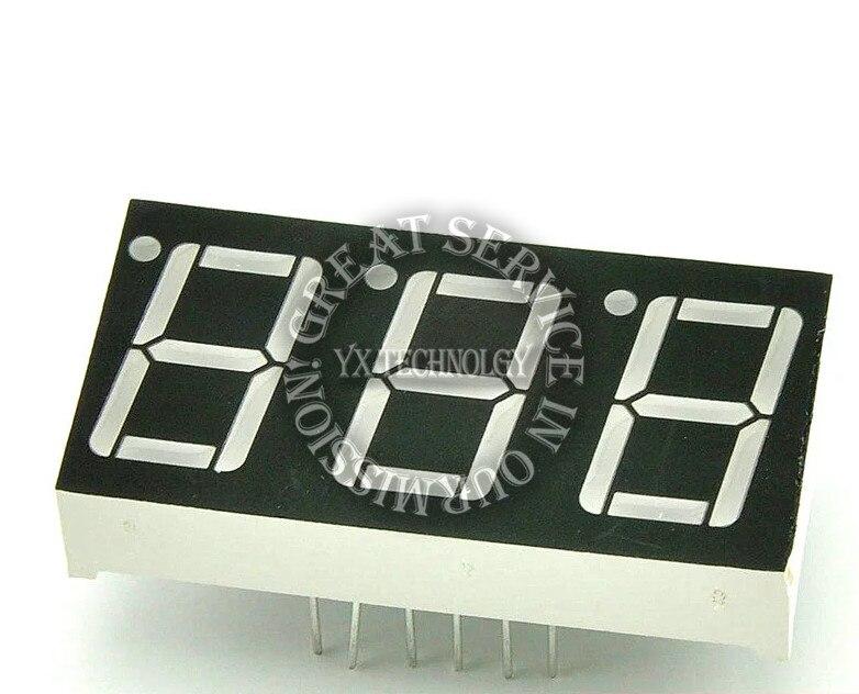 "5PCS Red 7Segment 0.5/"" LED Display Digital Tube Common Anode 1 Bit"