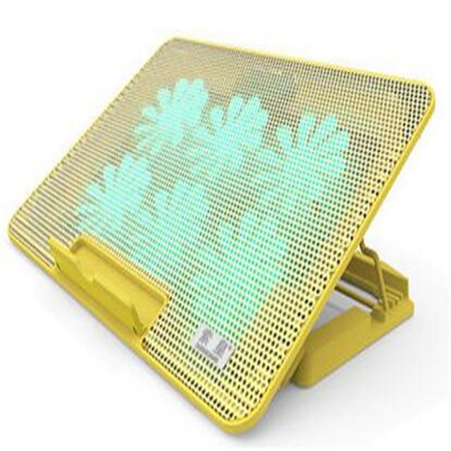 New Laptop ficar com o radiador liga de alumínio Notebook mesa Laptop Stand Notebook suporte de secretária para um Laptop de prata de ouro
