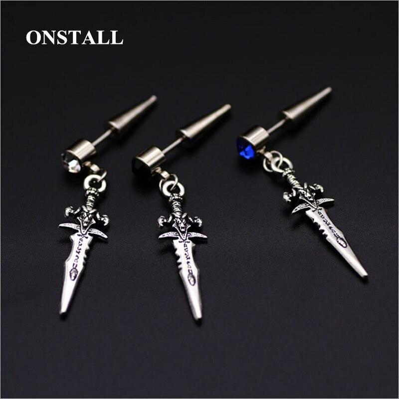 Bts earring Mens single sword stainless steel earring,guys jewellery,accessory, hipster, grunge style, punk, dagger earrings men