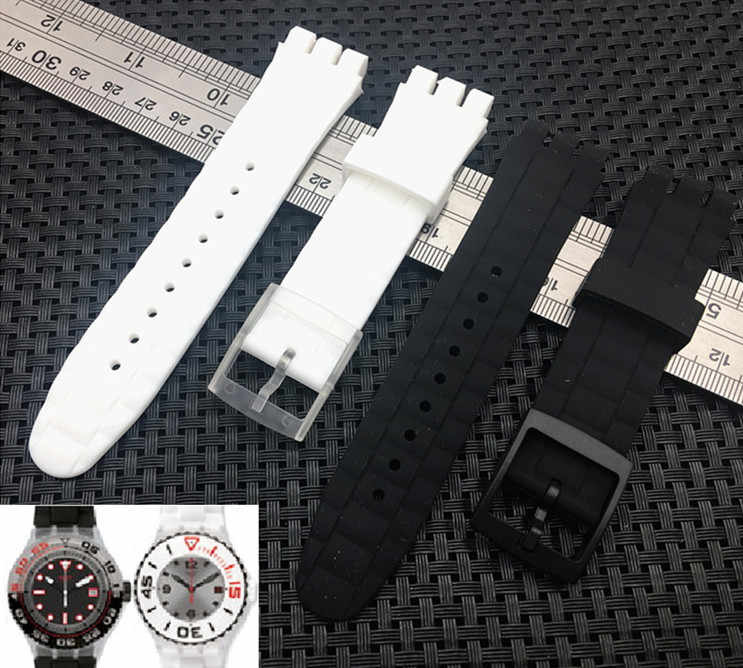 Rubber Watch Band strap For Swatch Diving Watchband Sport Watches Men women Belt Flexible Band 21mm SUUB series SUUB101 SUUW101
