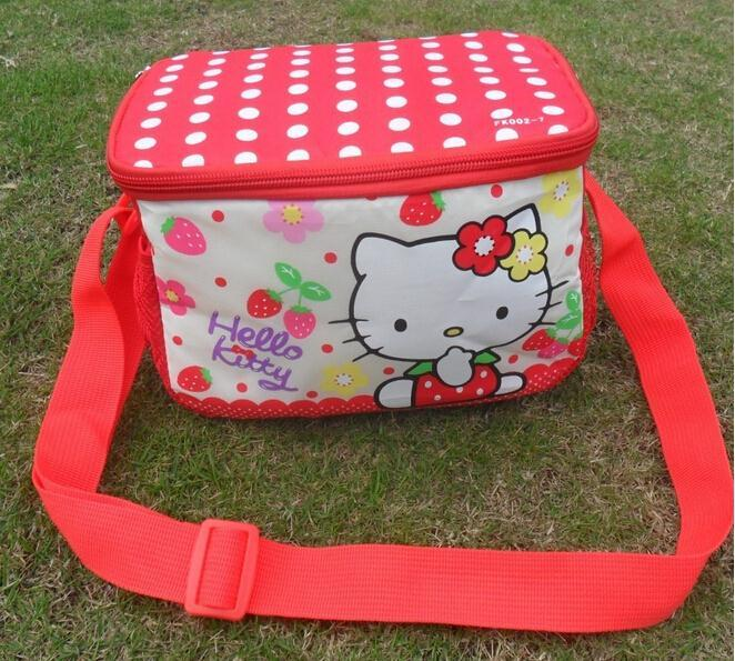 Retail Hello Kitty Thermal Printing Lunch Box Bag Insulated Cooler Bag  Picnic Dining Travel Tote Bag freeshipping-in Lunch Bags from Luggage   Bags  on ... ff62694bf1ed1