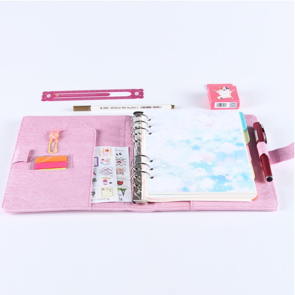 Cute Macaron PU Leather Spiral Notebooks,office School