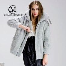2016 Winter Thickening berber fleece velvet loose fur overcoat fur  outerwear female medium-long jacket sheep Leather fur coat