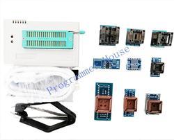 100% New V9.16 TL866CS TL866A TL866II Plus Universal Programmer Support ICSP NAND FLASH\EEPROM\MCU SOP/PLCC include 10 adapters