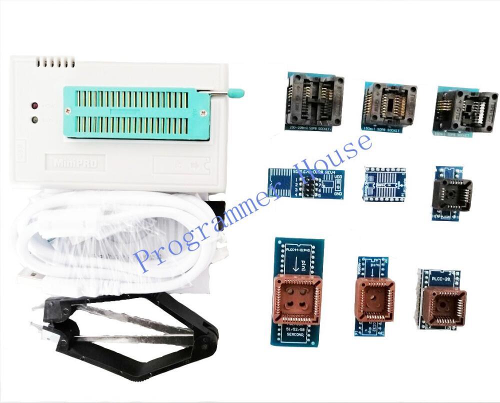 Novidades Tl866ii Plus Universal Programmer Support Icsp Nand Flash – Eeprom Mcu Sop Plcc Include 10 Adapters 100% V9.16 Tl866cs Tl866a
