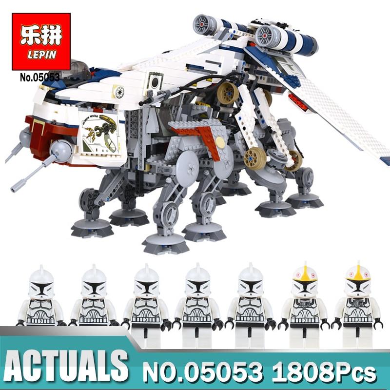 Lepin 05053 Star 1788Pcs Wars the Republic Dropship with AT-OT Walker Model Building Blo ...