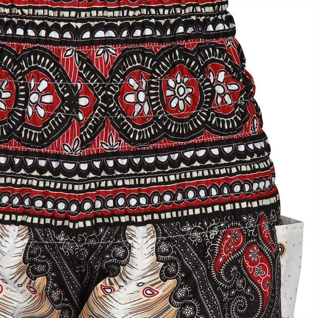 Feather Printed Boho Harem Pants
