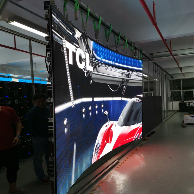 New design P3.91 smd RGB video display indoor Arc led display wall 500x500mm die casting aluminum rental led screen for stage