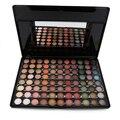 Especial de moda de Nova Cor Quente 88 Full Color Eyeshadow Palette Eye Beauty Fase Maquiagem Sombra de Olho Profissional 7 # Com escova