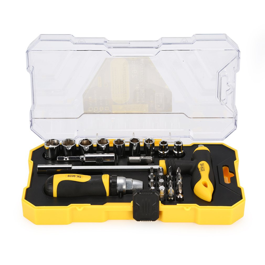 Tools Hand Tools Spirited She.k 29pcs Screwdriver Set Series Kit Tamper Ratchet Sleeve Wrench Hand Tools Combination Household Repairing Tools Sale To Be Highly Praised And Appreciated By The Consuming Public
