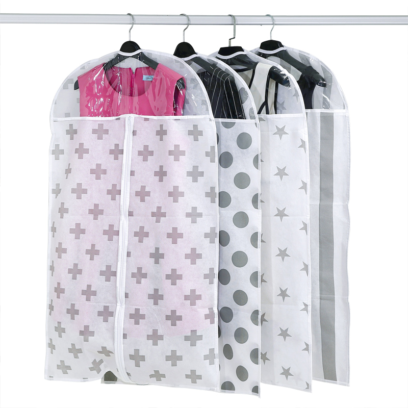 Hanging Dustproof Clothes Cover Garment Suit Storage Bag Coat Clothing Protector
