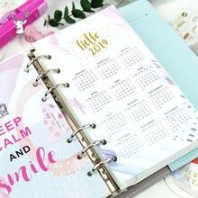 Здравствуйте 2019 красочные разделители календаря записная книжка