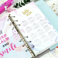 Hello 2019 Colorful Calendar Divider Notebook Index Paper Separator Pages 6 Holes Diary Index Pages Loose Spiral Dividers A5 A6 ezone 5 sheets a6 6 holes notebook s index page paper separator page loose leaf book category page planner stationery papelaria