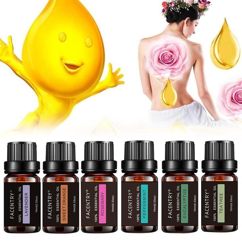 100% reine Natürliche Aromatherapie Öle Kit 10ml Für Luftbefeuchter Wasser-löslich Duft Öl Massage Ätherisches Öl Set Freies shiping