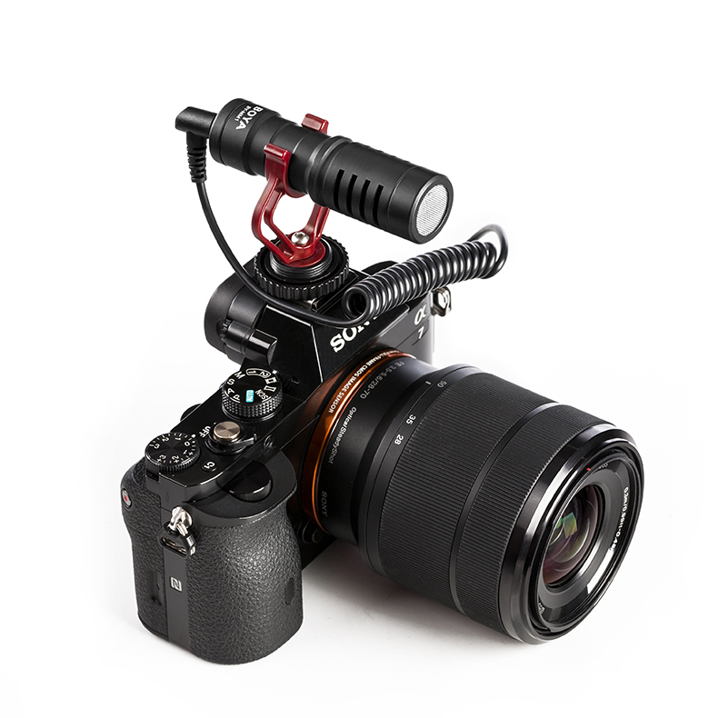 BOYA BY-MM1 micro micro vidéo Compact sur appareil photo pour Canon Nikon Sony A7 GH4 appareil photo reflex numérique iPhone Samsung HuaWei Smartphone - 2