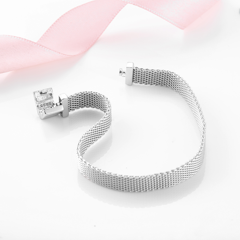 Image 2 - High quality 925 Sterling Silver Fashion Clip Beads Bracelets for Women Fit Original reflexions bracelet charms femme Jewelry-in Chain & Link Bracelets from Jewelry & Accessories