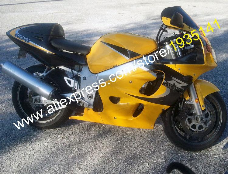 Горячие продаж,для Suzuki SRAD системы GSX-r600 о/750 96-00 системы GSX-Р 600 750 1996 1997 1998 1999 2000 желтый черный послепродажного мотоцикл обтекатель