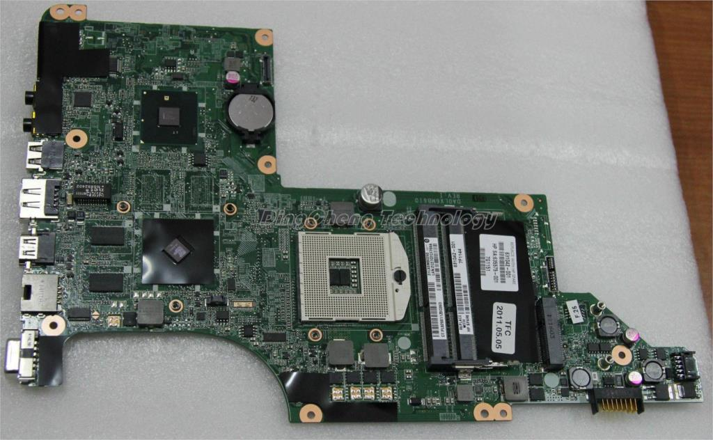 все цены на  45 days Warranty laptop Motherboard For hp DV6 DV6-3000 631042-001 for intel cpu with HM55 HD6370/512M non-integrated graphics  онлайн