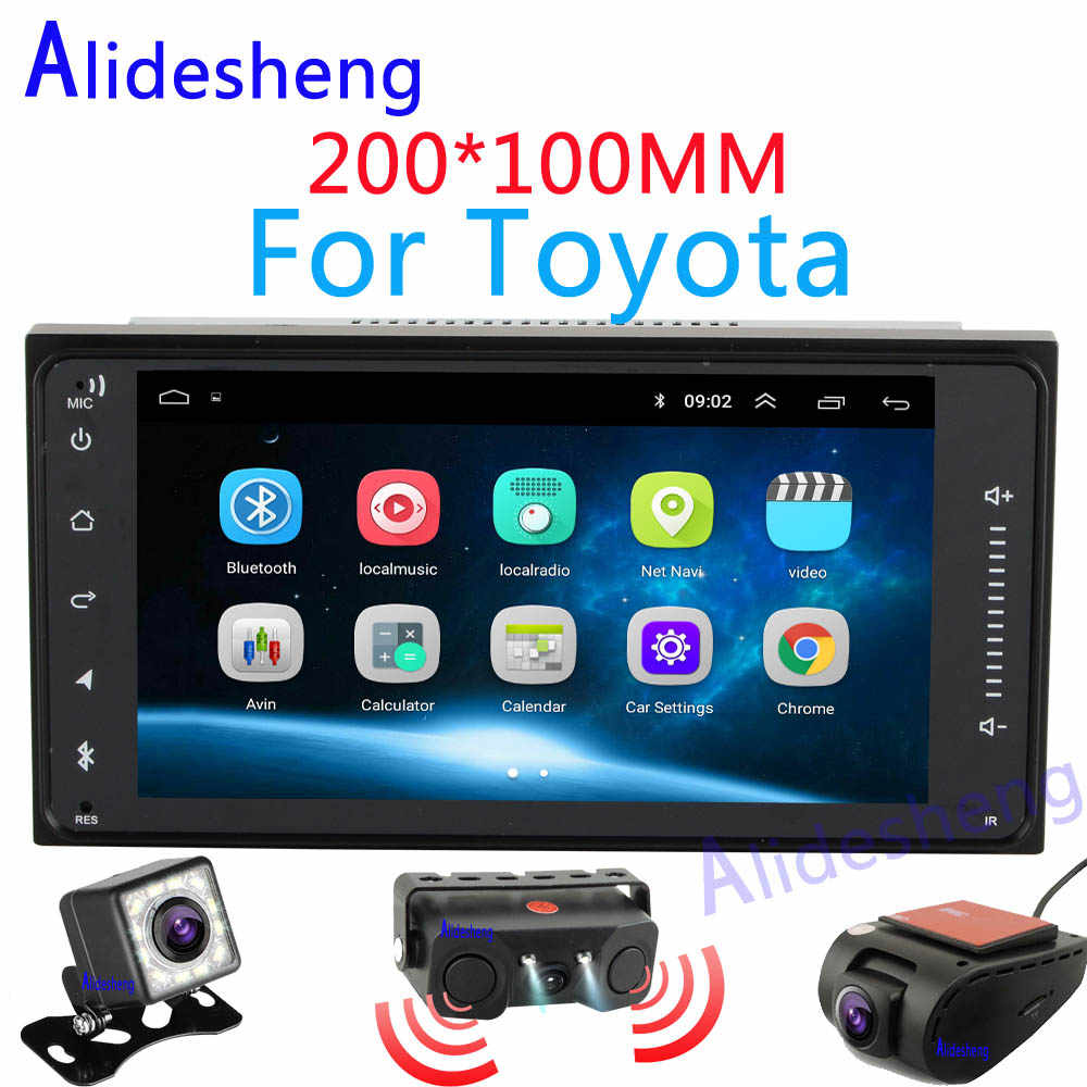 Android 8.1 GPS navigation car dvd for Toyota Terios Old Corolla Camry Prado stereo car radio Bluetooth Wifi Multimedia player