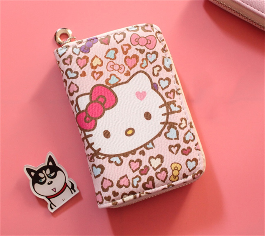 4fccb5ff6 hello kitty wallet New Female PU leather Wallets Women Zipper Purse Ladies  Short Purse Wristlet Clutch Coin Card Phone Carteras-in Wallets from  Luggage ...