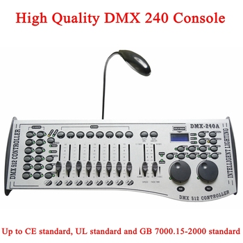 Free shipping NEW 240 DMX Controller Stage Lighting DJ equipment DMX Console for LED Par Moving Head Spotlights DJ Controller 2xlot big discount 6 channel simple dmx controller for stage lighting 512 dmx console dj controller equipments free shipping