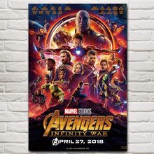 New Avengers Infinity War Marvel 2018 Hot Movie Art Poster 12x18 24x36 inches Silk Light Canvas Print Home Decor For Wall(China)