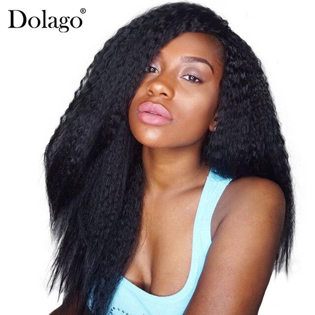 Brazilian Kinky Straight Clip In Human Hair Extensions Coarse Yaki