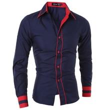 Sjqwe camisa сорочка манжеты masculina полосатый xxl homme длинными рукавами рубашка