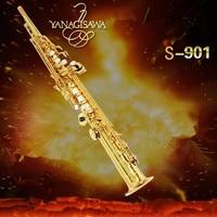 New Arrival 2018 YANAGISAWA Japan S 901 Soprano Saxophone High Quality Yanagisawa Straight B flat Sax Free Shipping