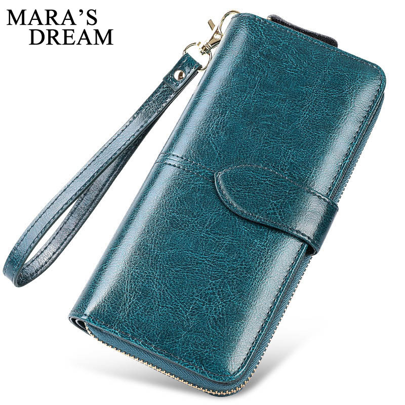 Mara's Dream New Fashion Long Women Wallets Female Genuine Leather Womens Wallet Zipper Design With Coin Purse Wallet Clutch Bag