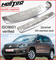 skid plate/bumper guard bumper protector for VW Tiguan 2012 2013 2014 2015 2016, 2pcs/set,304 stainless steel,promotion price