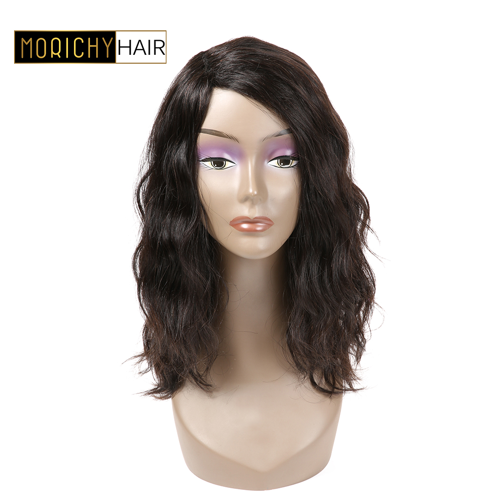 MORICHY Wavy Wave Lace Part Human Hair Wigs For Black Women Pre Plucked Brazilian Remy Wigs