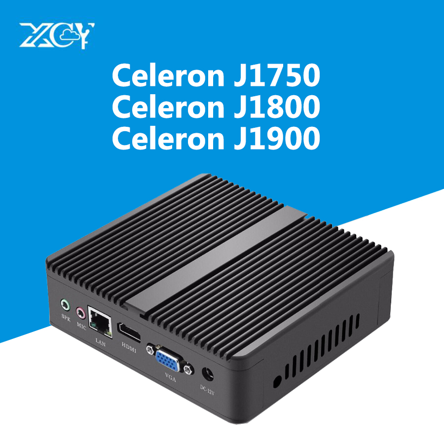 Mini Desktop PC Fanless Windows Intel Celeron J1900 J1800 HDMI 4G RAM 60G SSD WiFi USB Gigabit Ethernet Dual Hard Disk Computer недорго, оригинальная цена