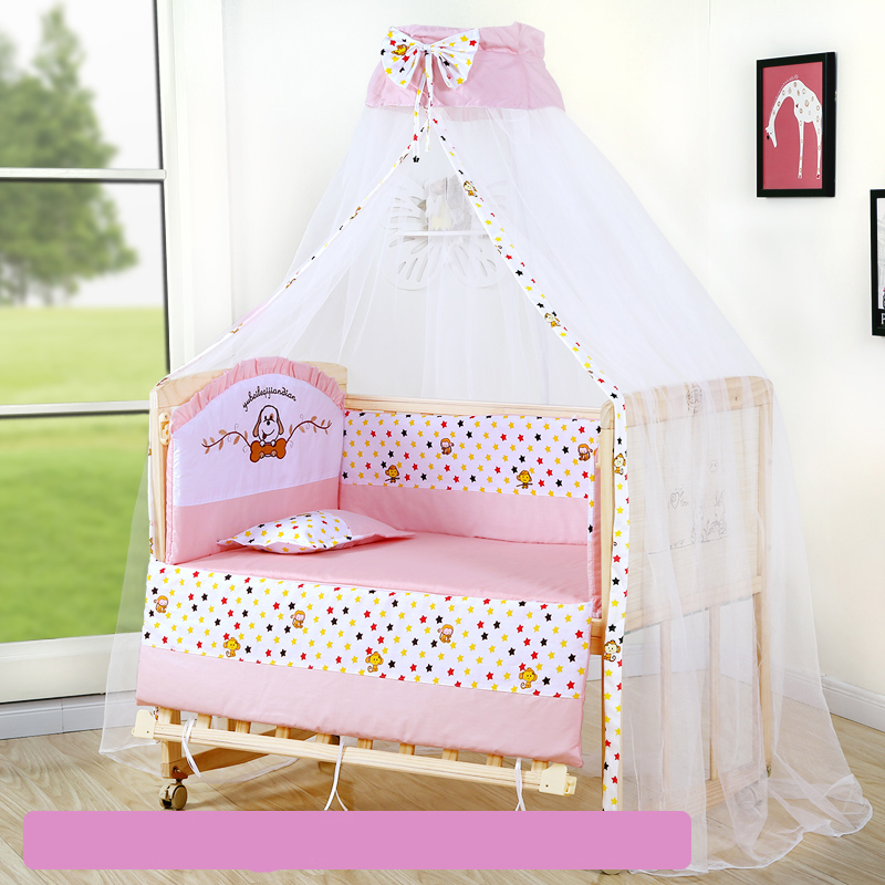 Bébé berceau pare-chocs doux respirant coton bébé berceau lit protecteur pour les enfants au lit ensemble de literie pour les enfants - 3