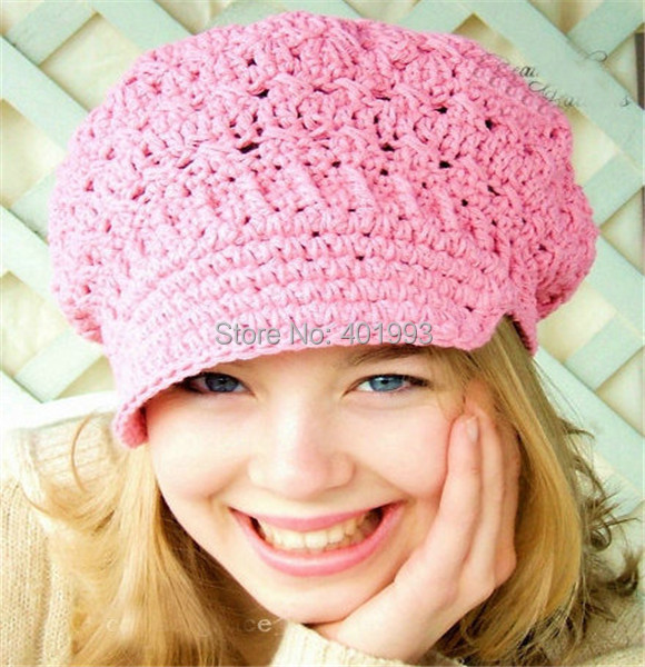 New Toddler Hat Spring Beanie Womens Newsboy Hat Crochet Adult Hats