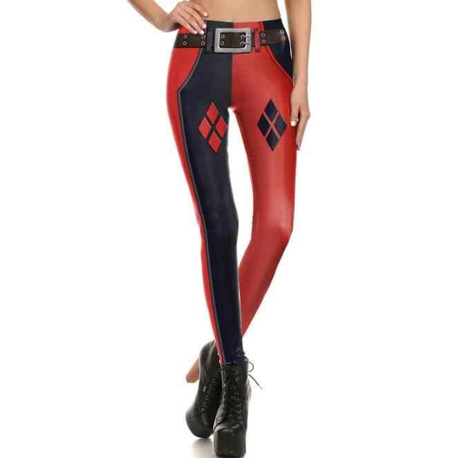 Suicide Squad Harley Quinn Tights Rompi Kamisol Celana Fashion Wanita Cosplay Kostum Wanita 3D Print Pakaian Kebugaran Rashguard