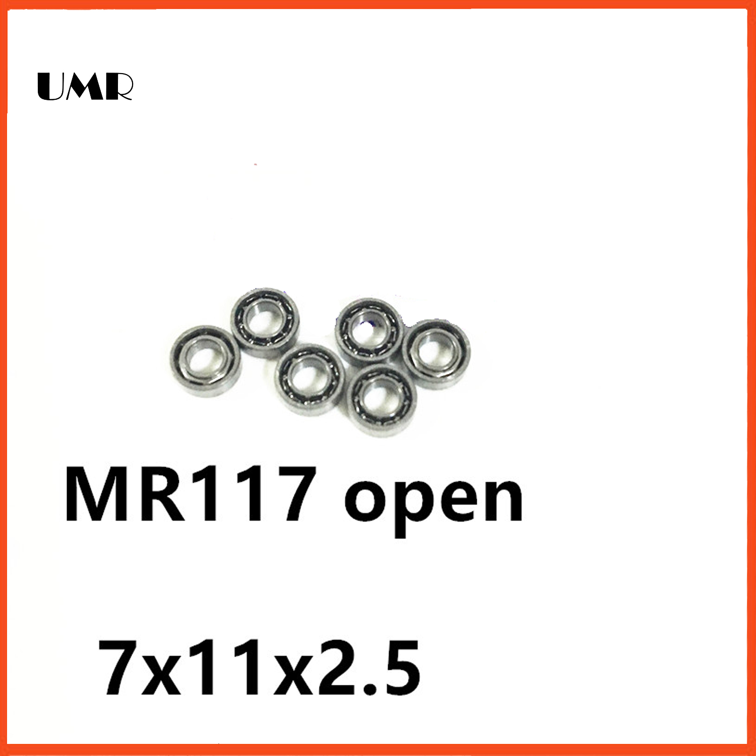 UMR bearings MR117 Bearing ABEC-1  7X11X2.5 mm Miniature MR117- Open Ball Bearings MR117 677 617/7 7*11*2.5 mm 1pcs 71901 71901cd p4 7901 12x24x6 mochu thin walled miniature angular contact bearings speed spindle bearings cnc abec 7