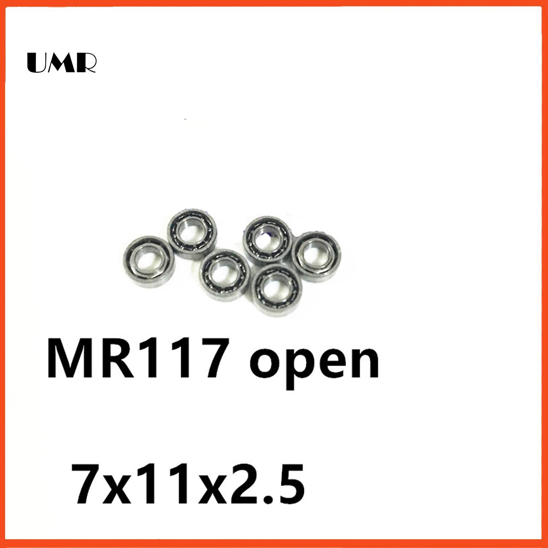 UMR bearings MR117 Bearing ABEC-1  7X11X2.5 mm Miniature MR117- Open Ball Bearings MR117 677 617/7 7*11*2.5 mm 1 7 11