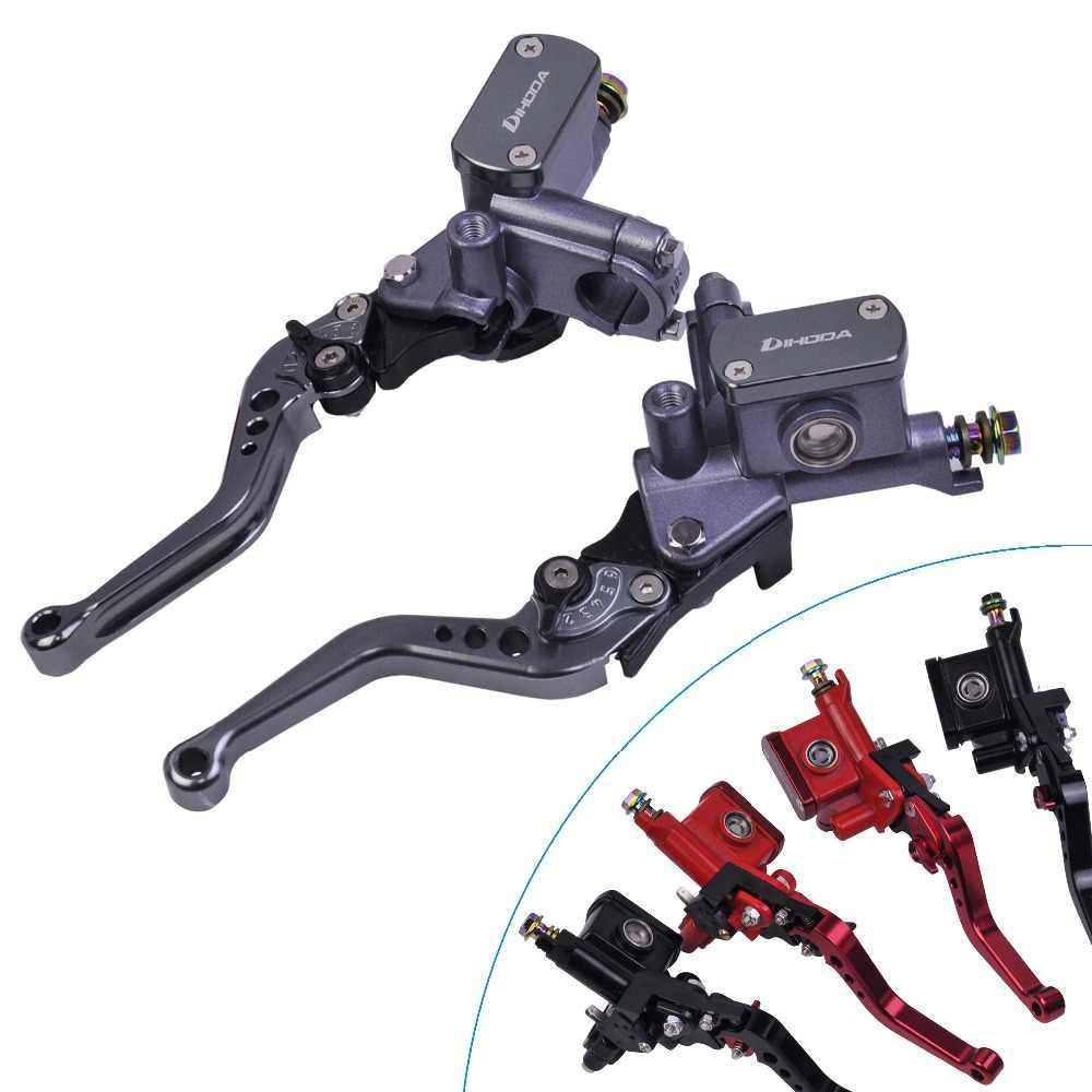 Duokon Par de 22 mm CNC Motocicleta Bomba de freno hidr/áulico Embrague Cilindro maestro Palanca ajustable Azul