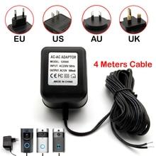 Power Adapter EU US AU UK Plug 12V AC Transformer Charger for Wifi Wireless Doorbell